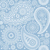Mini Moderns Paisley Crescent  Chalkhill Blue Wallpaper - Product code: AZDPT019 Chalkhill