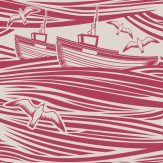 Mini Moderns Whitby  Awning Red Wallpaper