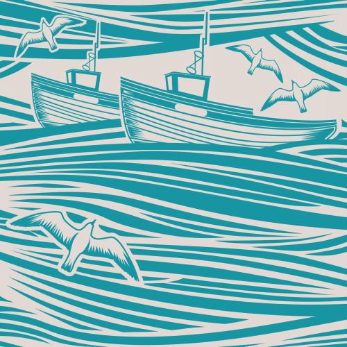 Mini Moderns Whitby  Lido Wallpaper main image