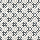 G P & J Baker Hicksonian Silver/ Charcoal Wallpaper