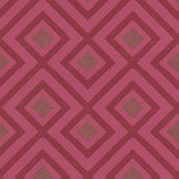 G P & J Baker La Fiorentina Berry  Berry / Metallic Gold Wallpaper