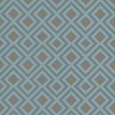 G P & J Baker La Fiorentina Small Teal / Metallic Gold Wallpaper - Product code: BW45062/6