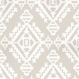 G P & J Baker Navajo Dove Grey Dove Grey / White Wallpaper