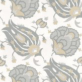 G P & J Baker Turkish Flower Dove/Stone Stone / Dove Wallpaper