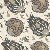 G P & J Baker Turkish Flower Charcoal Charcoal / Grey / Light Cream Wallpaper