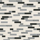 Albany Oblong Granite Black/Silver Black / Silver / Off White Wallpaper - Product code: 89191
