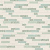 Albany Oblong Granite Teal/Silver Wallpaper