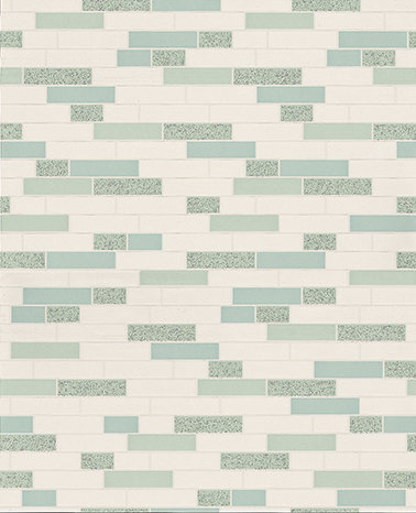 Albany Oblong Granite Teal/Silver Teal / Silver Wallpaper main image