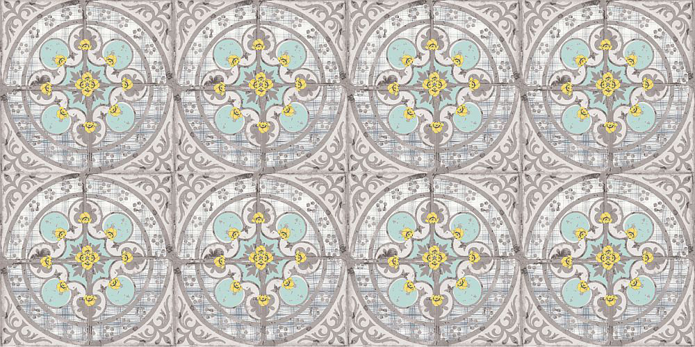 Louise Body Buttercup Blue Grey / Aqua / Yellow Wallpaper - Product code: Buttercup Blue