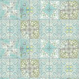 Louise Body Patchwork Jade Wallpaper - Product code: Patchwork Jade