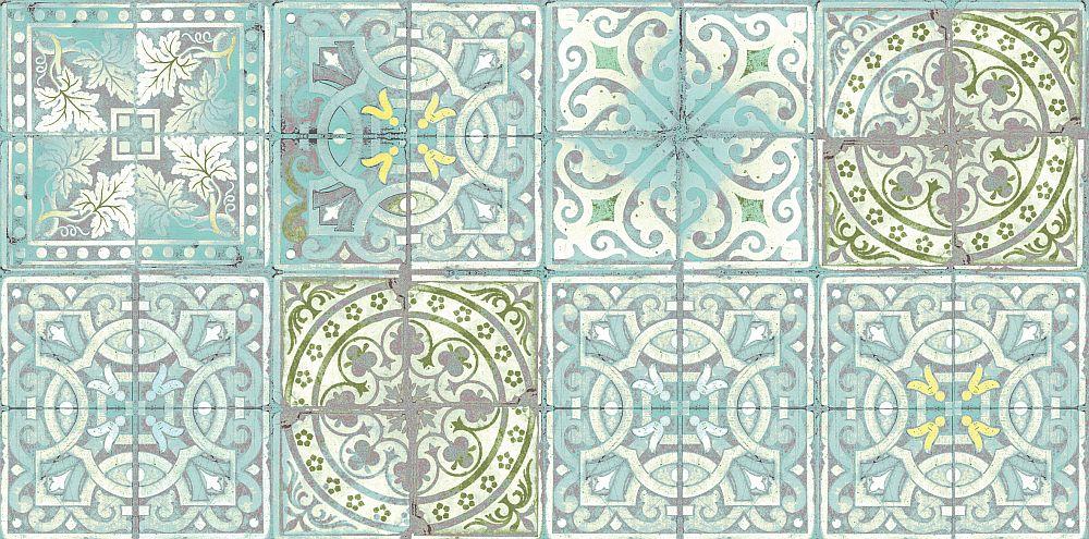 Louise Body Patchwork Jade Wallpaper - Product code: Patchwork Jade