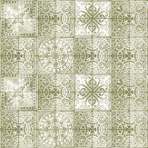 Louise Body Patchwork Tea Green / Grey Wallpaper - Product code: Patchwork Tea