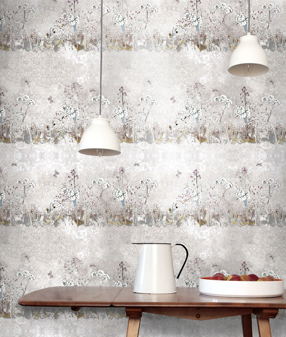 Louise Body Meadow Chalk Multi Wallpaper extra image
