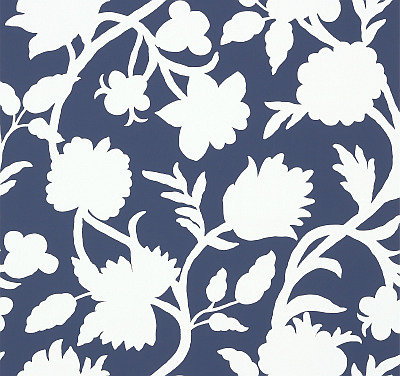 Thibaut Cabrera Navy Navy / White Wallpaper main image