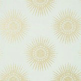 Thibaut Bahia Aqua Gold / Pale Aqua Wallpaper