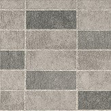 Albany Stone Tile Grey Wallpaper