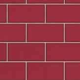 Albany Subway Tile Red Deep Red Wallpaper