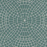 Albany Mosaic Teal Teal / Grey Wallpaper
