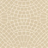 Albany Mosaic Cream Cream / Beige Wallpaper