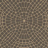 Albany Mosaic Gold Gold / Bronze Wallpaper