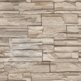 Eijffinger Granite Bricks Grey/Brown Wallpaper