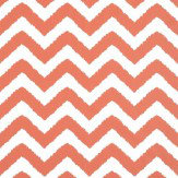 Thibaut Widenor Chevron Coral Orange Wallpaper