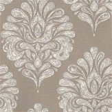 Eijffinger Ornate Damask Grey Grey / White Wallpaper