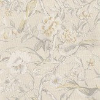 Prestigious Lotus Blossom  Ivory Wallpaper