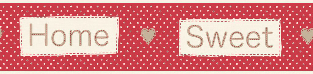 Albany Home Sweet Home Border Red - Product code: B50048