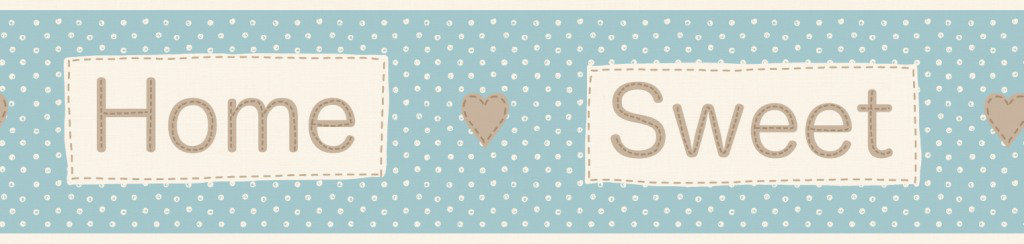 Albany Home Sweet Home Border Teal - Product code: B50050