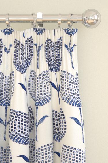 Harlequin Lolita  Indigo/ Chalk Curtains - Product code: 131074