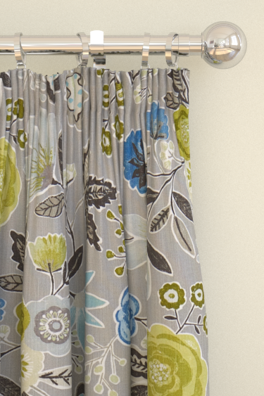 Harlequin Caspia  Slate/ Seagrass  Curtains - Product code: 120264