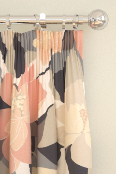 Scion Diva Grey / Pink Curtains