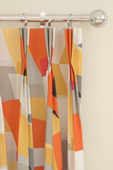 Pucci curtains by Scion - Orange / Grey : Wallpaper Direct