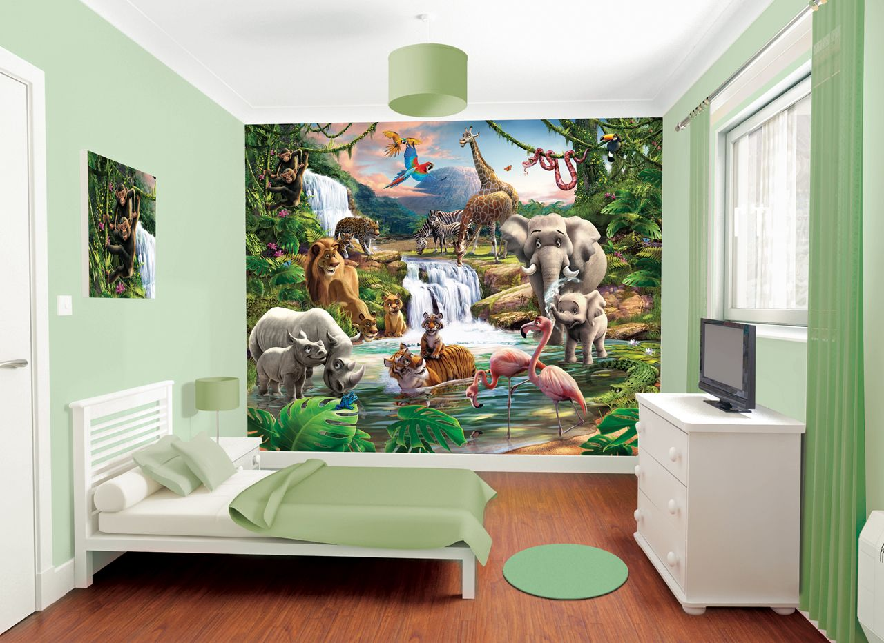 walltastic dulux bedroom in a box jungle adventure bedroom in a box