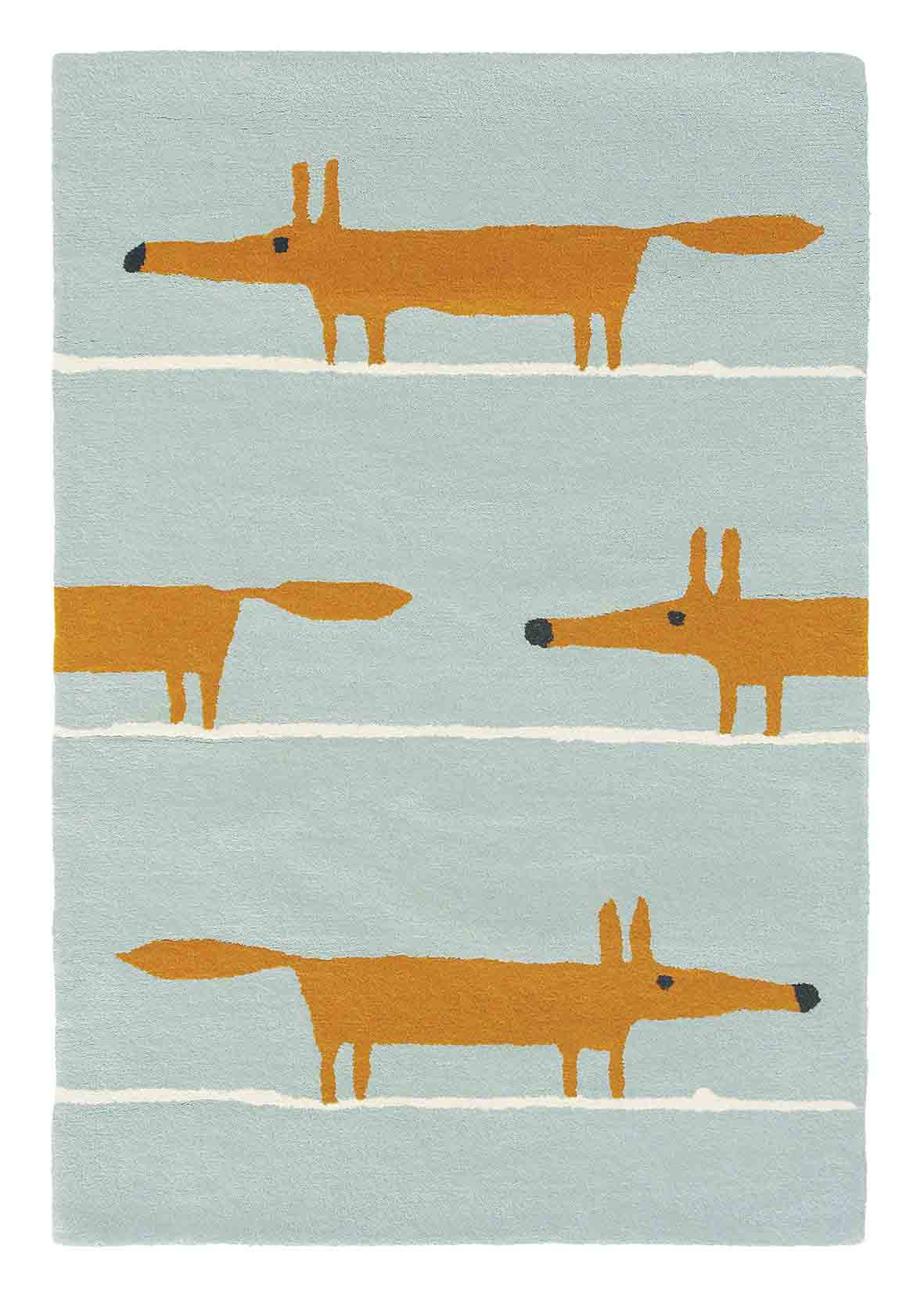 Mr Fox Rug - Aqua - by Scion