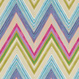 Scion Groove Pink / Green / Blue Fabric