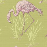 Arthouse Lagoon  Green/Pink Wallpaper