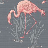Arthouse Lagoon  Grey/Coral Wallpaper