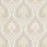 Baker Lifestyle Latika  Ivory/Silver Wallpaper