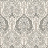 Baker Lifestyle Latika  Dove/Charcoal Wallpaper