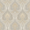 Baker Lifestyle Latika  Stone/Silver Wallpaper