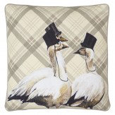 Arthouse Geese Embroidered Cushion