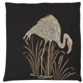 Arthouse Lagoon Black Embroidered Cushion