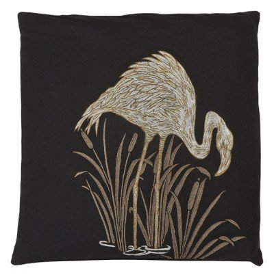 Image of Arthouse Cushions Lagoon Black Embroidered Cushion, 008247