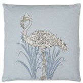 Arthouse Lagoon Blue Embroidered Cushion