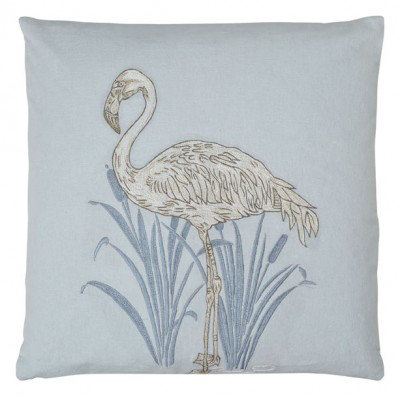 Image of Arthouse Cushions Lagoon Blue Embroidered Cushion, 008248