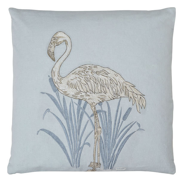 Arthouse Lagoon Blue Embroidered Cushion - Product code: 008248