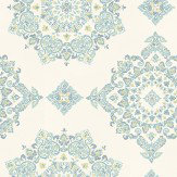 Baker Lifestyle Parvani  Teal/Lime Wallpaper