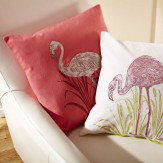 Arthouse Lagoon Pink Embroidered Cushion